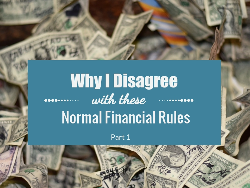 Disagree with Financial Rules Cover