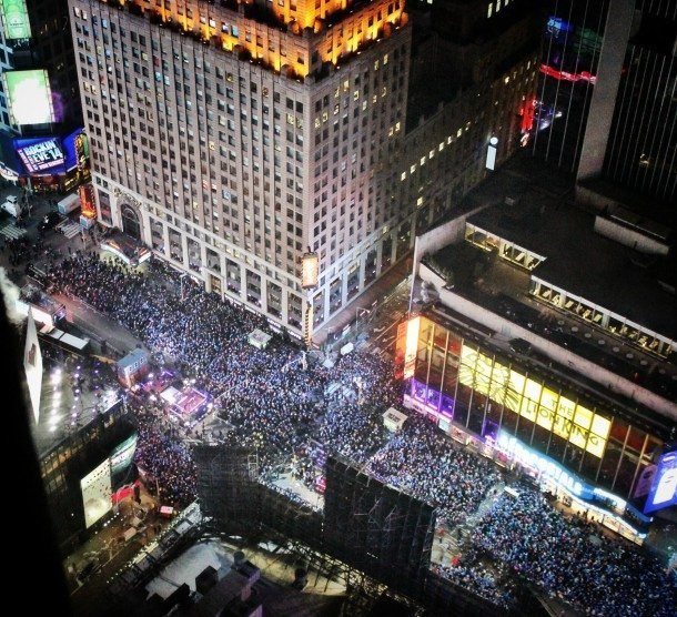 Hyatt Times Square Ball Drop