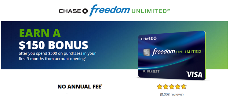 Chase Freedom Unlimited Sign-Up Bonus